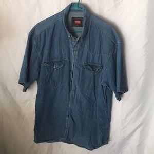 Men's denim short sleeve shirt